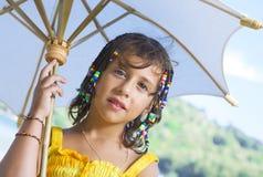 Met paraplu Stock Foto's