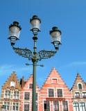 Met puntgevel huizen van Brugge Royalty-vrije Stock Foto