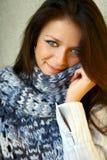 Met sjaal Stock Afbeelding