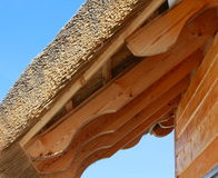 Met stro bedek dak en stralen Royalty-vrije Stock Foto's