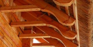 Met stro bedek dak en stralen Royalty-vrije Stock Afbeeldingen