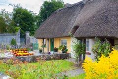 Met stro bedekt plattelandshuisje in Adare, Ierland Royalty-vrije Stock Foto
