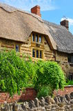 Met stro bedekt plattelandshuisjedetail, Blisworth, Engeland royalty-vrije stock afbeeldingen