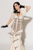 Met stroken kleding royalty-vrije stock fotografie