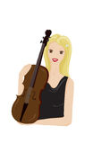 Met viool Stock Foto
