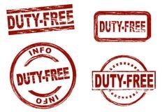 Met vrijstelling van rechten de reeks van de inktzegel Royalty-vrije Stock Foto