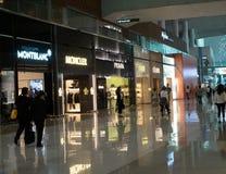 Met vrijstelling van rechten Winkels in de Internationale Luchthaven van Incheon in Zuid-Korea stock afbeelding