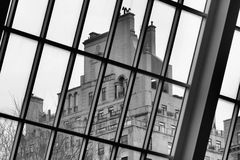 By the Met window Royalty Free Stock Photos