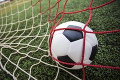Meta asombrosa del fútbol del fútbol. Fotografía de archivo libre de regalías