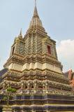 Meta av Pagoda på Wat Pho Arkivbild