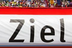 Meta bandera (Ziel) Imágenes de archivo libres de regalías