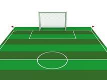 Meta blanca #1 del fútbol Imagenes de archivo