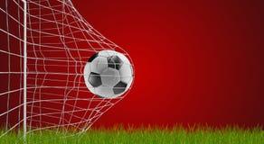 Meta 3d-illustration del fútbol del balón de fútbol stock de ilustración
