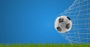 Meta 3d-illustration del fútbol del balón de fútbol ilustración del vector