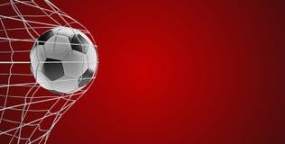 Meta 3d-illustration del fútbol del balón de fútbol en rojo libre illustration