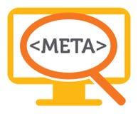 Meta - dane rewizja ilustracja wektor