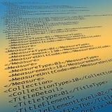 Meta - dane XML kod royalty ilustracja