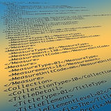 Meta Data XML Code Royalty Free Stock Photos