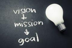 Meta de la misión de Vision Fotografía de archivo libre de regalías