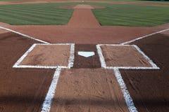 Meta del béisbol con las líneas de tiza fotos de archivo libres de regalías