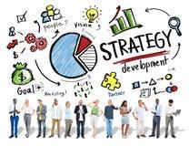 Meta del desarrollo de la estrategia que comercializa estafa del negocio del planeamiento de Vision Imagen de archivo