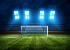 Meta del estadio de fútbol Imagenes de archivo