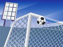 Meta del fútbol. Foto de archivo