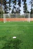 Meta del fútbol Fotografía de archivo