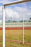 Meta del fútbol Foto de archivo