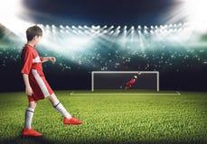 Meta del fútbol Fotografía de archivo libre de regalías