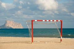 Meta del fútbol de la playa Fotografía de archivo