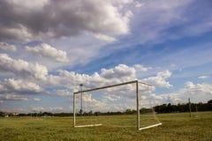 Meta del fútbol del día Imagen de archivo