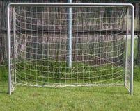 Meta del fútbol sin un portero foto de archivo