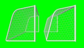 Meta del fútbol Imagenes de archivo