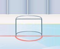 Meta del hockey. Fotografía de archivo