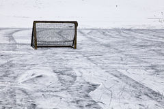 Meta del hockey Imagenes de archivo