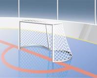 Meta del hockey. Fotos de archivo