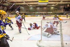 Meta del hockey Fotografía de archivo libre de regalías