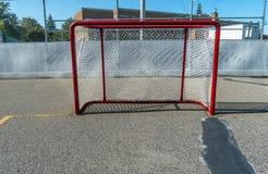 Meta del hockey Imagen de archivo libre de regalías