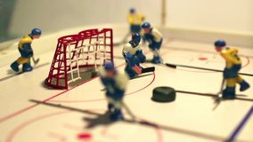 Meta del hockey sobre hielo almacen de metraje de vídeo