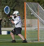 Meta del lacrosse fotografía de archivo