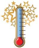 Meta del termómetro Fotos de archivo libres de regalías