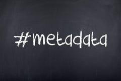 Meta-gegevens Hashtags stock afbeeldingen