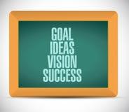 Meta, ideas, visión, pizarra del éxito Imagen de archivo
