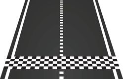 Meta na drodze ilustracja wektor