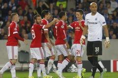 Meta Wayne Rooney Champion League FC Brujas - Manchester United Fotografía de archivo libre de regalías