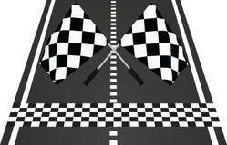 Meta z flaga ilustracji