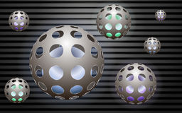 Metaal abstract balls Royalty Free Stock Photos