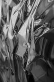 Metaal abstract ontwerp: zwart-wit kleur met glanzende oppervlakte Stock Foto