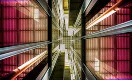 Metaal Abstracte Ontwerpen van de de jaren '80 Retro Architectuur royalty-vrije stock afbeeldingen